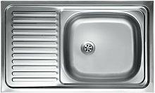 Lavello cucina vasca con gocciolatoio sx acciaio