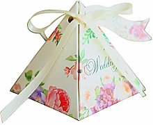 Lazeny 50x Triangolo Scatola di Caramelle