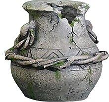 Lazzzgua Garden Terracotta Flowers Pot, Clay