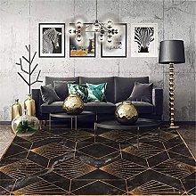 LBMTFFFFFF - Tappeto da soggiorno, in marmo nero,