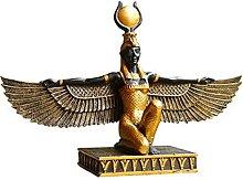 LBYLYH Mitologia Egizia Iside Dea Resina Scultura