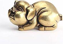LBYLYH Ornamenti di Maiale in Rame Puro tè