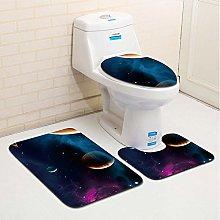 LDHHZ 3 pz Galaxy Starry Night Bath Mats Anti Slip