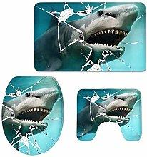 LDHHZ - Set di 3 copriwater con design a squalo,