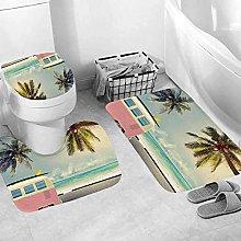 LDHHZ Set di 3 tappetini da bagno da spiaggia Bus
