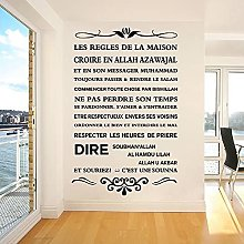 Le regole della casa Adesivo murale in vinile