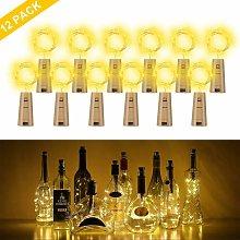 LED Bottle Light 12 pezzi, 10 LED 100cm bianco