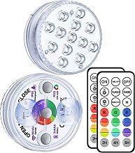 LED Sommergibili con Telecomando RF, 3 Magnete,