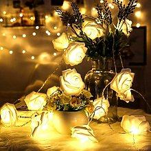 LED Stringa Luci catena leggera Rose Fiore Led