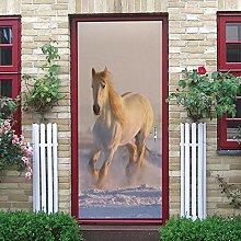 LEIMAS Porta Murale Pvc Adesivo Per Porte Cavallo