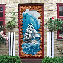 LEIMAS Porta Murale PVC Adesivo per Porte