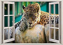 Leopardo ghepardo tigre animale giungla 3D effetto