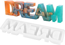 Lettera Sogno Stampo in silicone Segno di parola