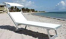 Lettino Mare Spiaggia Piscina con Parasole