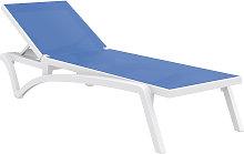 Lettino regolabile blu con rotelle CORAIL