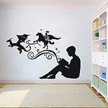 Lettura e immaginazione Adesivo da parete in