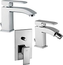 Level kit miscelatore lavabo, bidet e doccia a