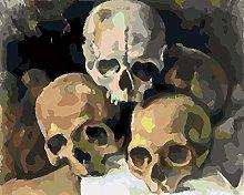 Lfczm Kit Pittura con Numeri Cranio Kit di Pittura