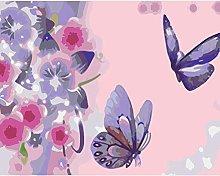 Lfczm Kit Pittura con Numeri Farfalle e Fiori per