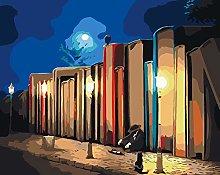 Lfczm Kit Pittura con Numeri Libreria Lungo la