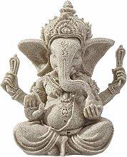 LGYKUMEG Elefante Ganesha,Statua di Buddha in