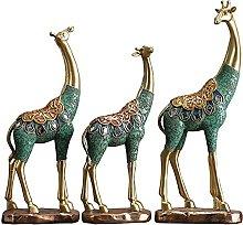 LGYKUMEG Giraffe Scultura della Statua del