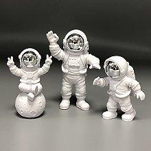 LGYKUMEG Mini Figura di Astronauta, 3 Pezzi di