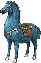 LGYKUMEG Resina Scultura Statua Deco Cavalli