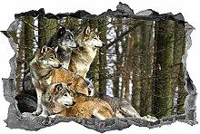 LHHYY Adesivi murali Branco di lupi, arte della