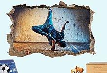 LHHYY adesivo da parete Adesivi murali ballerino