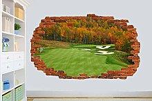 LHHYY adesivo da parete campo da golf adesivi