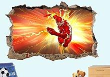 LHHYY adesivo da parete Flash eroe dei fumetti