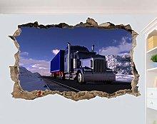 LHHYY adesivo da parete Potente camion Snow Road