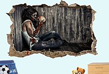 LHHYY adesivo da parete Skull horror 3D falso wall
