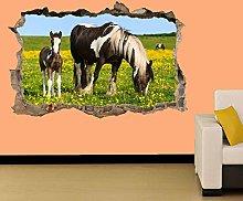 LHHYY adesivo murale Cavalli e puledri
