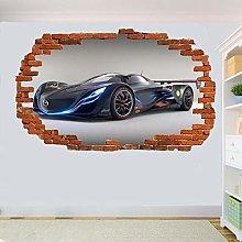 LHHYY adesivo murale Racing 3D adesivi murali