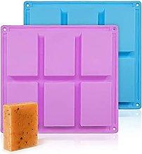 LHY - Stampo per sapone in silicone rettangolare,