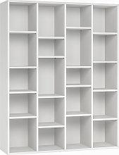 Libreria design in legno bianco RYTHM