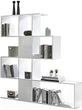Libreria divisoria di design bianco laccato lucido
