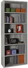Libreria linea Disegno colore cemento contenitore