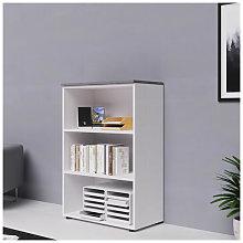 Libreria mobile ufficio a giorno in legno bianco