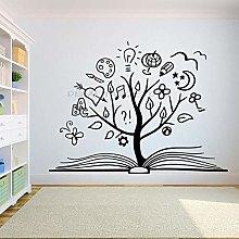 Libro Albero Adesivo murale Libro creativo Sala
