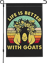 Life Is Better with Goats Garden Flags,