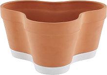 Ligne Roset Clover Pot Vaso in terracotta