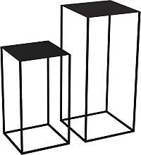 LILAODA Tavoli di nidificazione Art Iron Tavolino