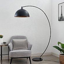 Lindby Beatris lampada ad arco, nero interno legno