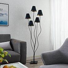 Lindby Komalie piantana, 5 luci, nero