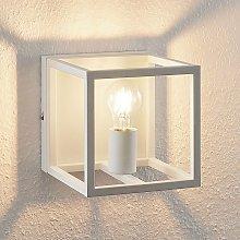 Lindby Meron applique, forma di scatola, bianco
