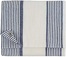 Linen & Cotton Tovaglia da Tavolo Blu Bianca A
