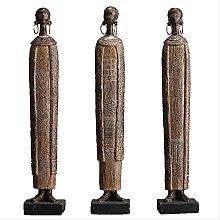 LISAQ Antique African Tribeswoman Figura Statua